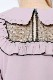 【MA*RS】ドットチュールヨークプルオーバーブラウス - ピンク size-F