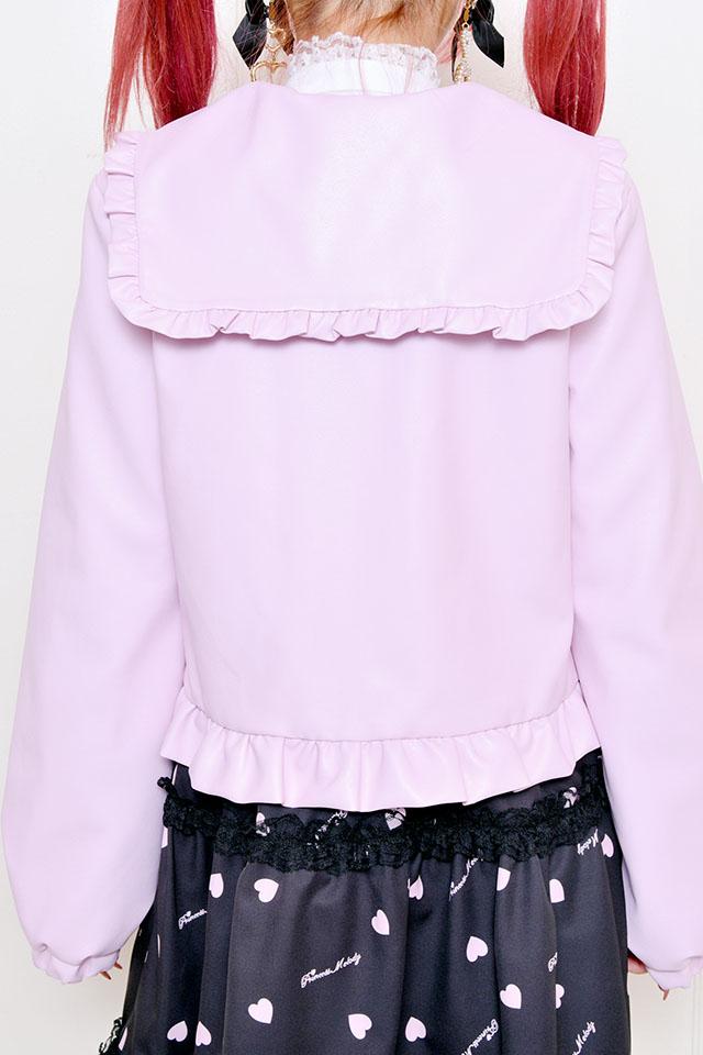 【Princess Melody】♪うさみみ(取り外し可)ライダースジャケット♪ - ピンク size-F