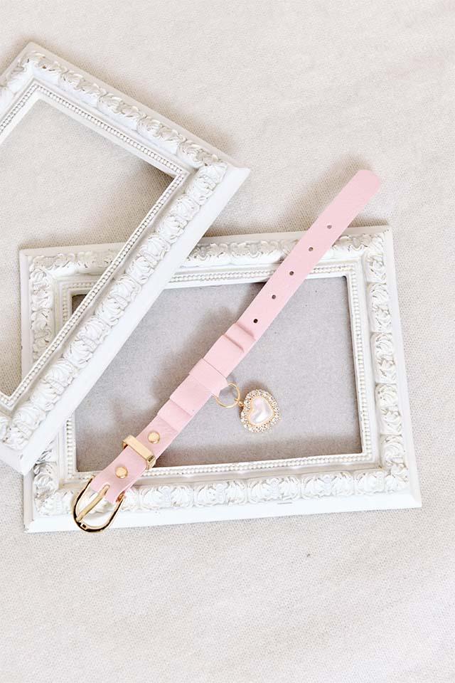 【Princess Melody】♪パールハート付きおりぼんブレス♪ - ピンク size-F