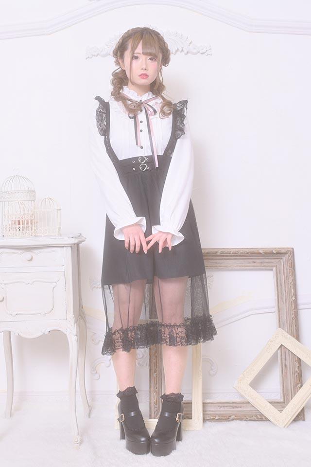 【MA*RS】レース切替ヨークブラウス - ホワイト size-F