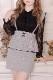 【MA*RS】☆WEB限定☆リボン付きペプラムタイトスカート - グレー size-F