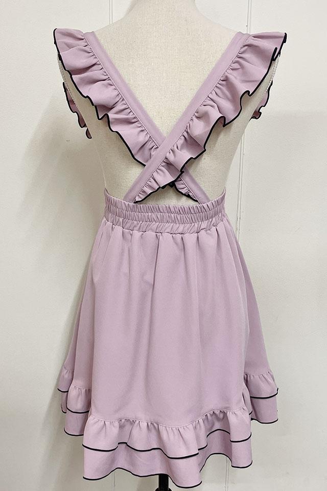 【MA*RS】Wフリルメロースカート - ピンク size-F