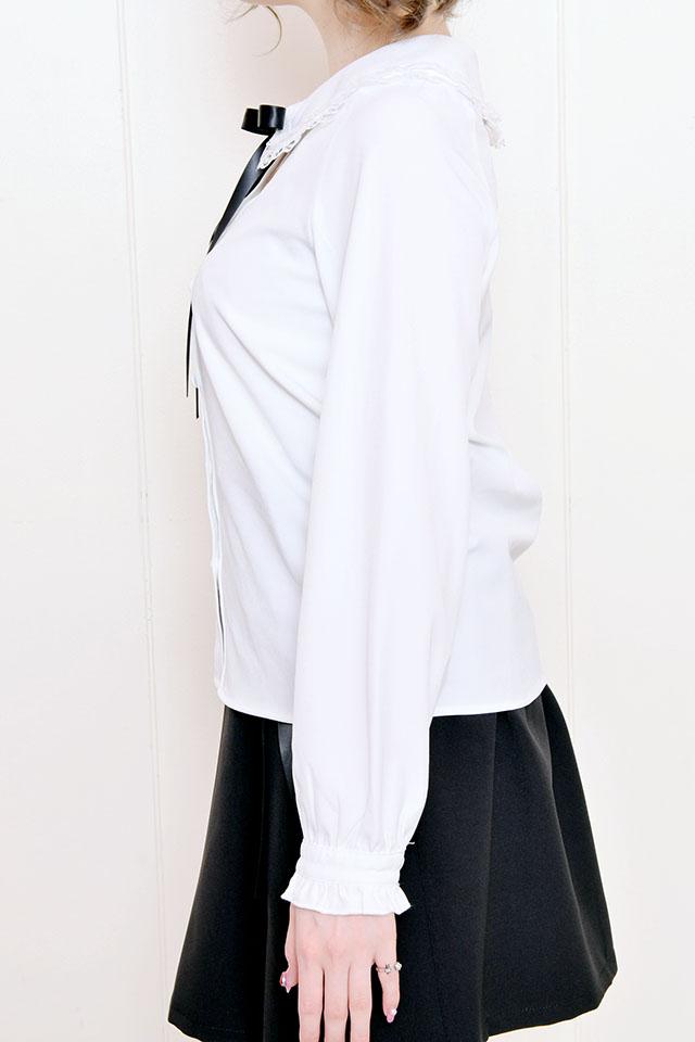 【MA*RS】ダブルレース襟ブラウス - ホワイト size-F