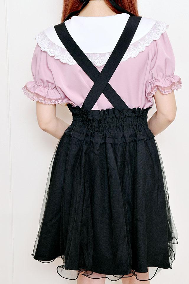 【MA*RS】チュール重ねフレアジャンスカ - ブラック size-F