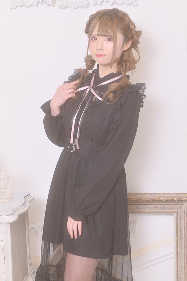 【MA*RS】レース切替ヨークブラウス - ブラック size-F