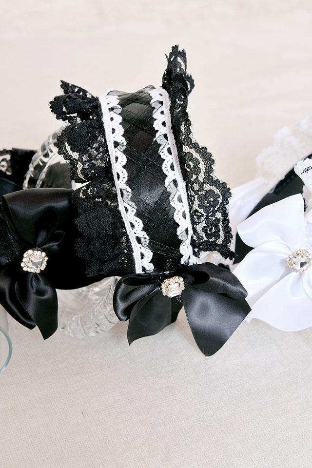 【Princess Melody】♪ふりふりヘッドドレスカチューシャ♪ - ブラック size-F