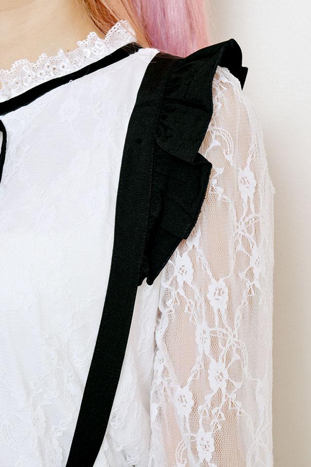 【MA*RS】☆WEB限定☆リボン付きペプラムタイトスカート - ブラック size-F