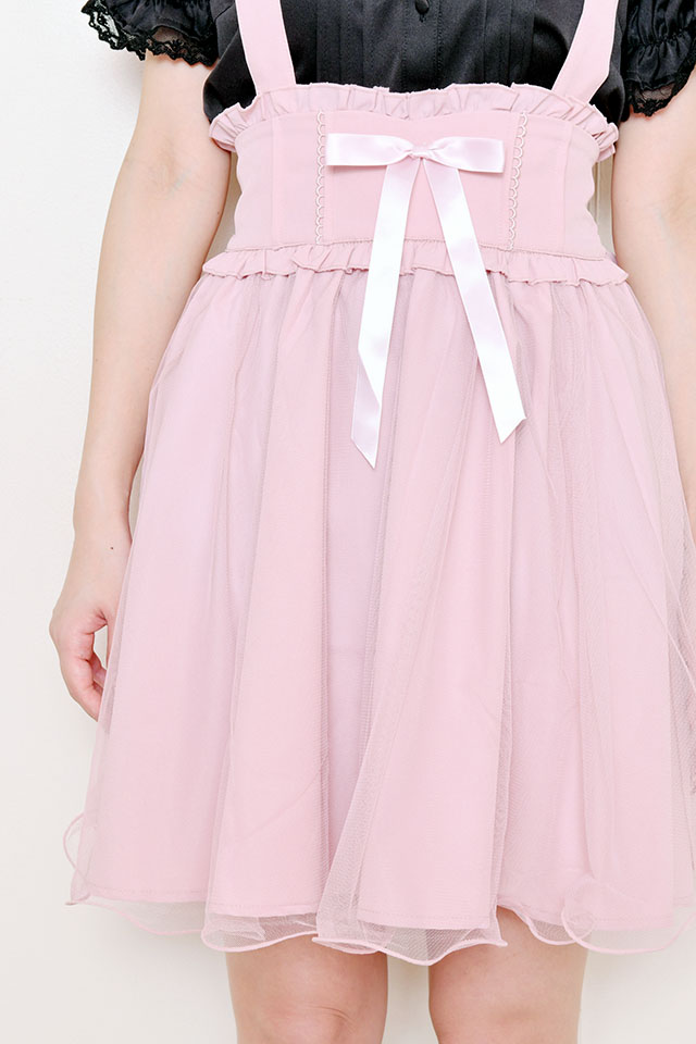【MA*RS】チュール重ねフレアジャンスカ - ピンク size-F