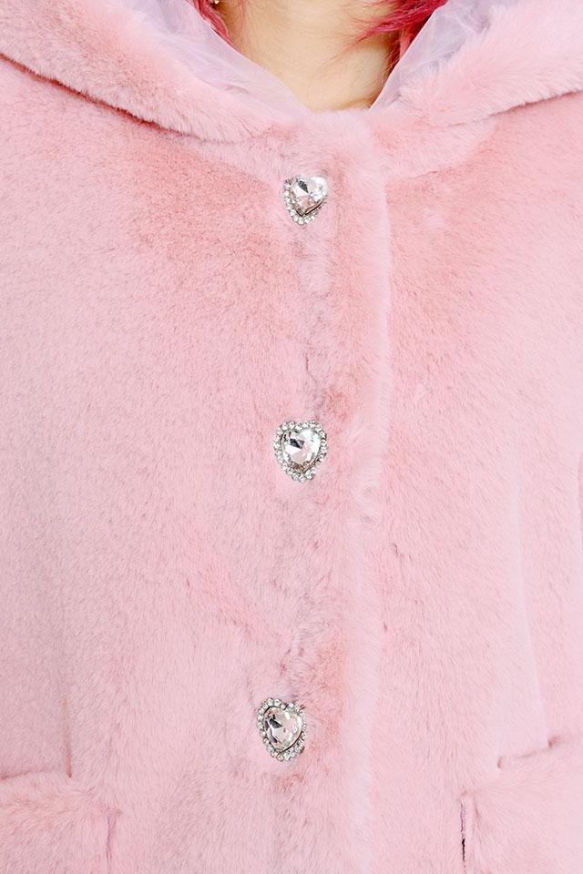 【Princess Melody】♪通販限定♪ふわふわうさたんショートコート♪ - ピンク size-F