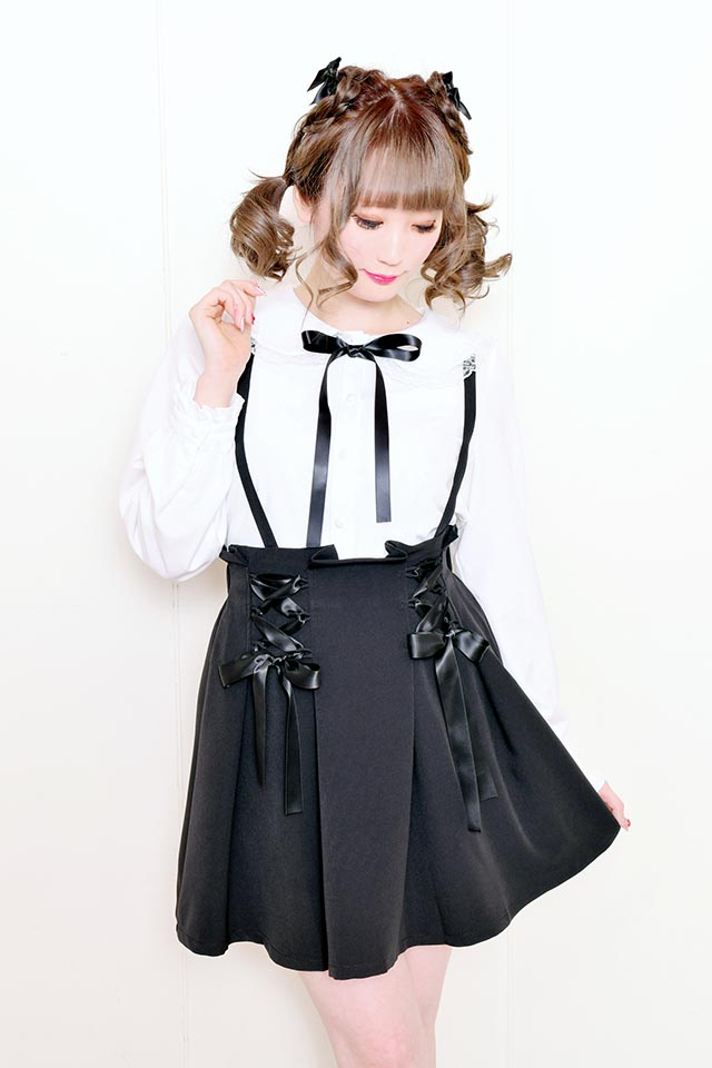 【MA*RS】ダブルリボンスカート - ブラック size-F