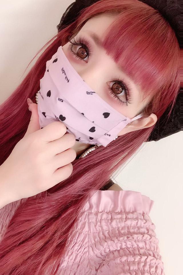 【Princess Melody】♪プリメロハートプリーツマスク♪ - ピンク size-F