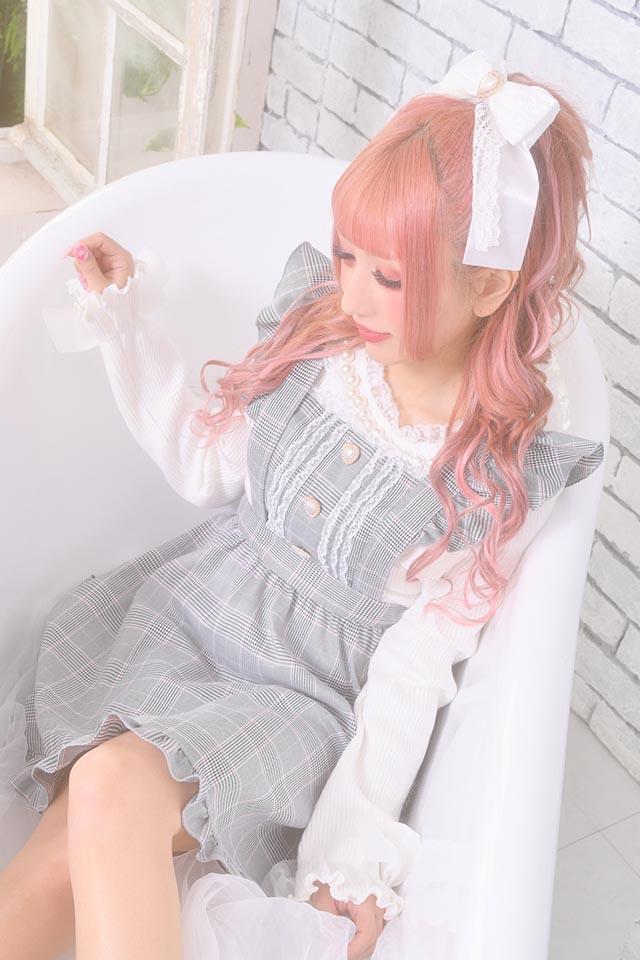 【Princess Melody】♪パールネックフリルTOPS♪ - ホワイト size-F