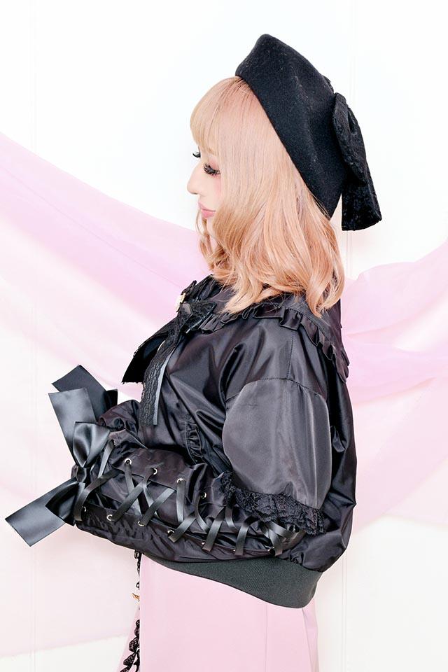 【Princess Melody】♪お袖レースアップセーラーブルゾン♪ - ブラック size-F