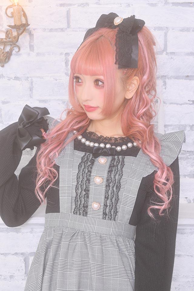 【Princess Melody】♪パールネックフリルTOPS♪ - ブラック size-F