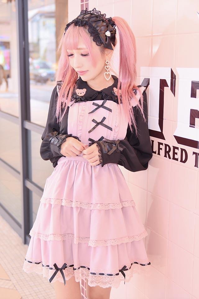 【Princess Melody】♪お襟くま刺繍ブラウス♪ - ブラック size-F