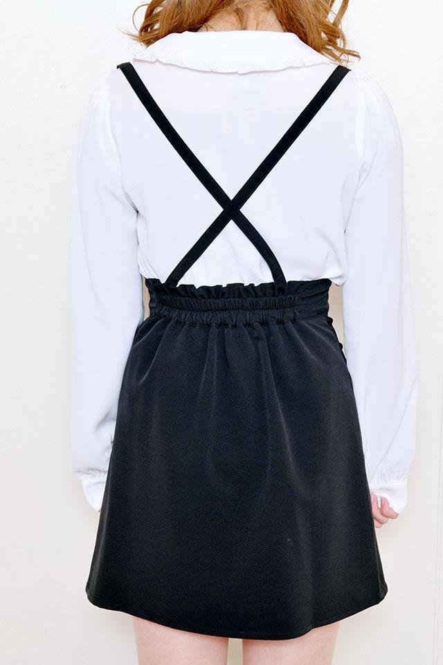 【MA*RS】ZIP台形スカート - ブラック size-F