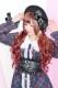 【Princess Melody】♪ダブルパールハートバックル付きコルセットベルト♪ - ブラック size-F