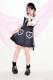 【Princess Melody】♪くまたん刺繍ポケットセーラーワンピ♪ - ブラック size-F