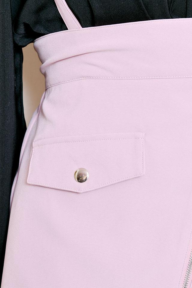 【MA*RS】ZIP台形スカート - ピンク size-F