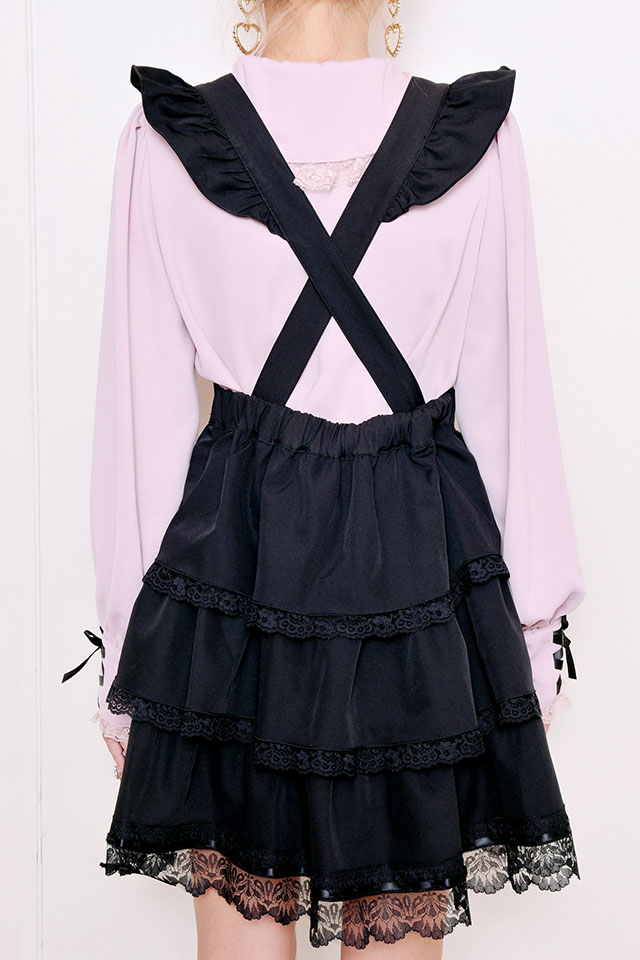 【Princess Melody】♪3WAY 3段フレアジャンスカ♪ - ブラック size-F