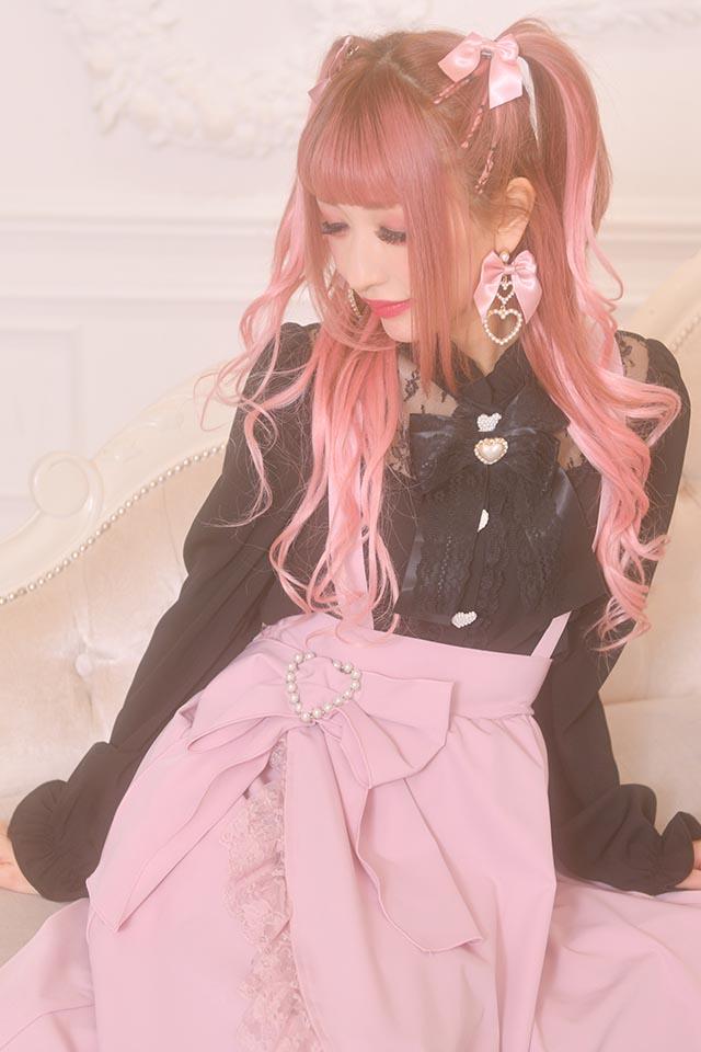 ☆28%OFF☆【Princess Melody】♪レース切替ブラウス♪ - ブラック size-F