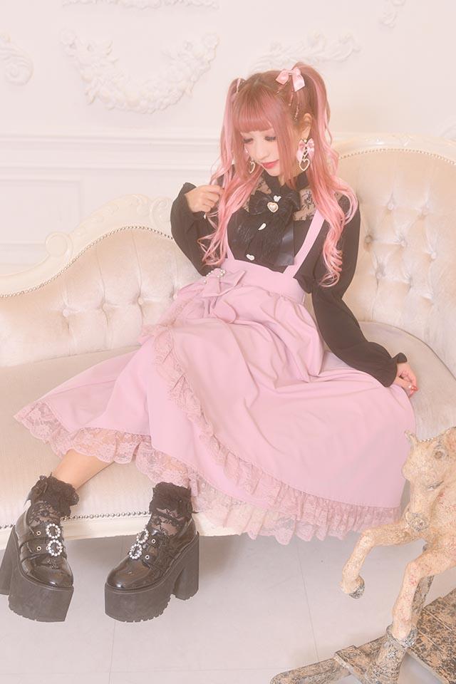 【Princess Melody】♪レース切替ブラウス♪ - ブラック size-F