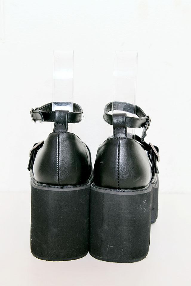 【MA*RS】ダブルバックルパンプス - ブラック