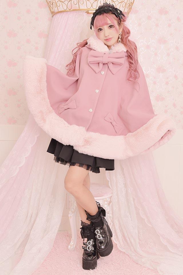 【Princess Melody】☆通販限定☆ ♪フードケープコート♪ - ピンク size-F