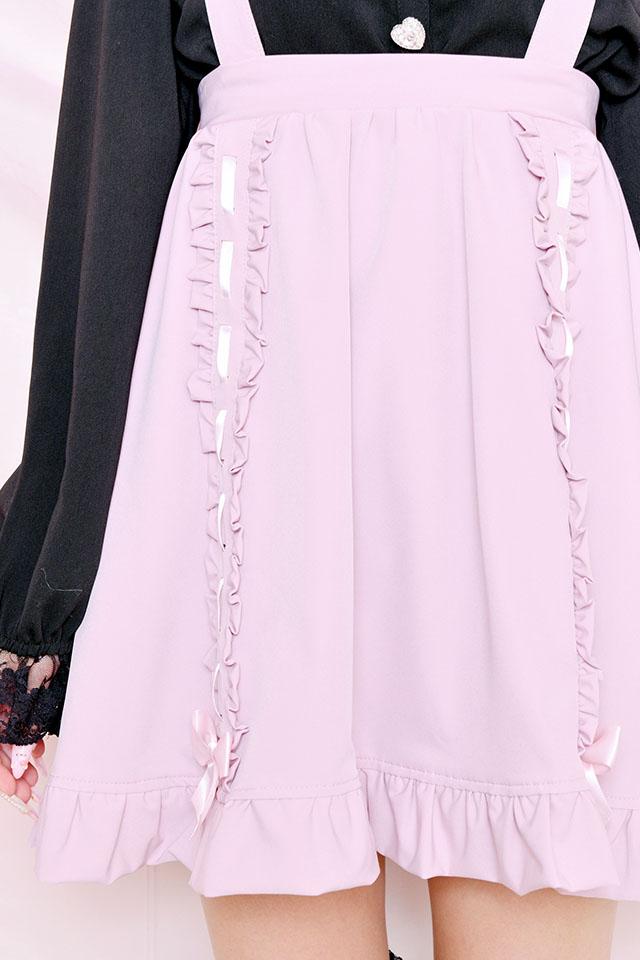 ☆25%OFF☆【Princess Melody】♪ダブルおりぼんテープフレアジャンスカ♪ - ピンク size-F