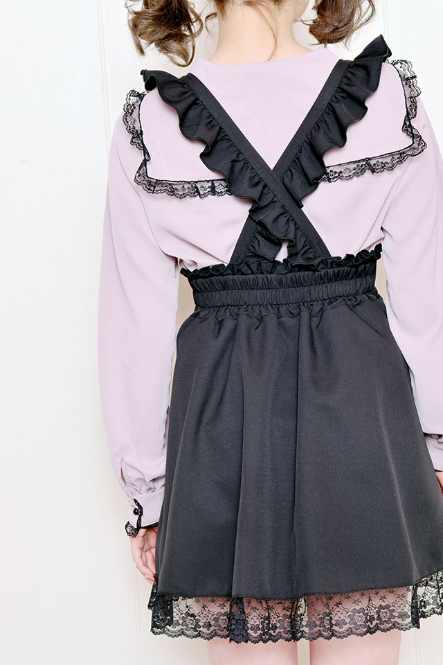 【MA*RS】裾レースジャンスカ - ブラック size-F