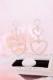 【Princess Melody】♪ダブルハートピアス♪ - パール size-F