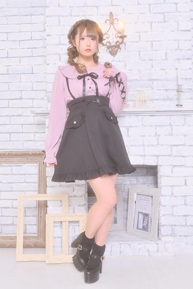 【MA*RS】Wポケット風スカート - ブラック size-F