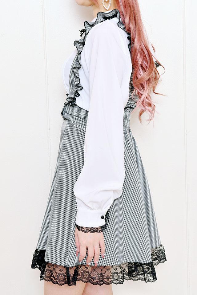 【MA*RS】裾レースジャンスカ - BLK/ホワイト size-F