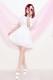 【Princess Melody】♪お花レースふりふりスカート♪ - ホワイト size-F