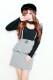 【MA*RS】プチリボンぺプラムタイトジャンスカ - グレー size-F