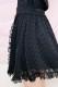 【Princess Melody】♪お花レースふりふりスカート♪ - ブラック size-F