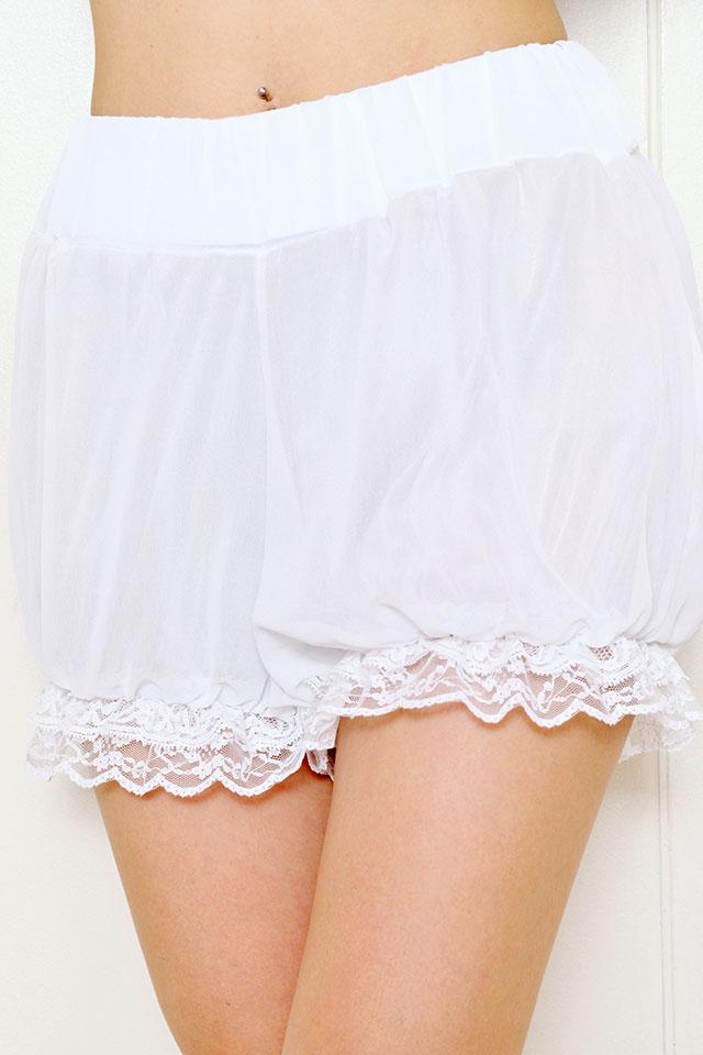 【Princess Melody】♪ダブルスカラレースかぼちゃパンツ♪ - ホワイト size-F