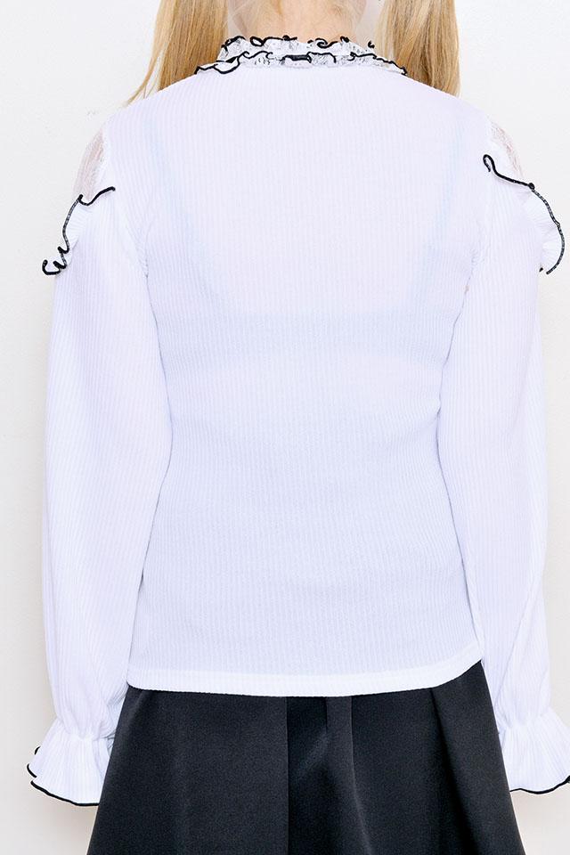 【MA*RS】前あきチョーカー肩レースTOPS - ホワイト size-F
