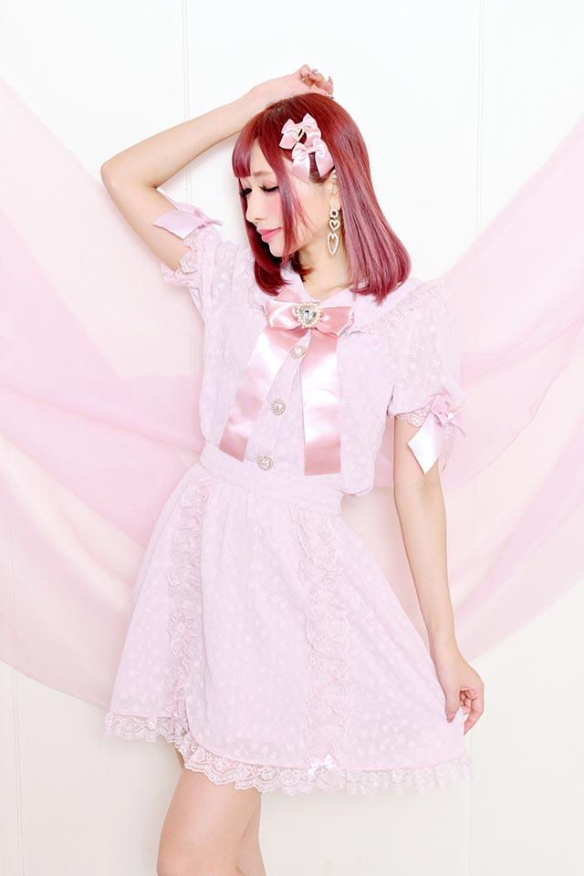 【Princess Melody】♪お花レースふりふりスカート♪ - ピンク size-F