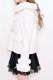 【MA*RS】袖ファーリボンフード付きショートコート - ホワイト size-F