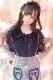 【MA*RS】ラッフルレース袖ブラウス - ブラック size-F