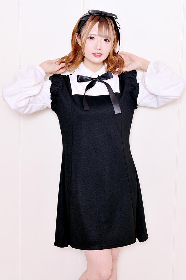 ☆41%OFF☆【MA*RS】エプロンワンピ - ブラック size-F