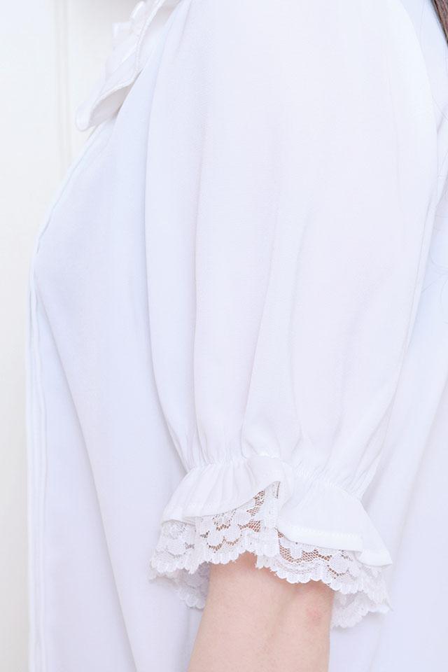 【MA*RS】4つリボン襟ブラウス - ホワイト size-F