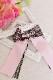 【Princess Melody】♪きらきらリングレースおりぼんクリップ♪ - ピンク size-F