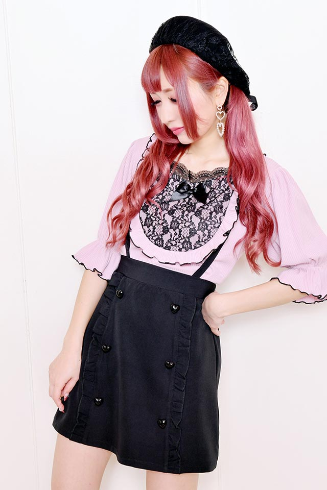 【MA*RS】ハートボタンスカート - ブラック size-F