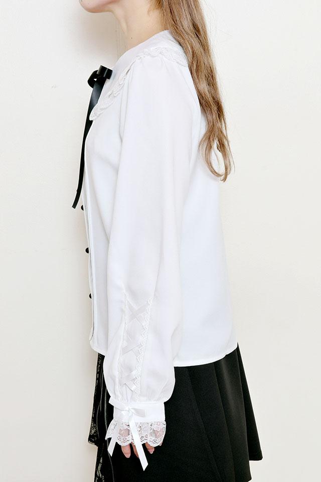 【MA*RS】袖スピンドルレースブラウス - ホワイト size-F