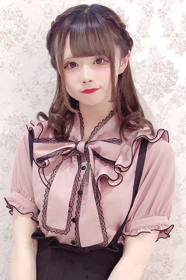 【MA*RS】フリルリボンブラウス - ピンク size-F