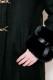 【MA*RS】袖ファーリボンロングコート - ブラック size-F