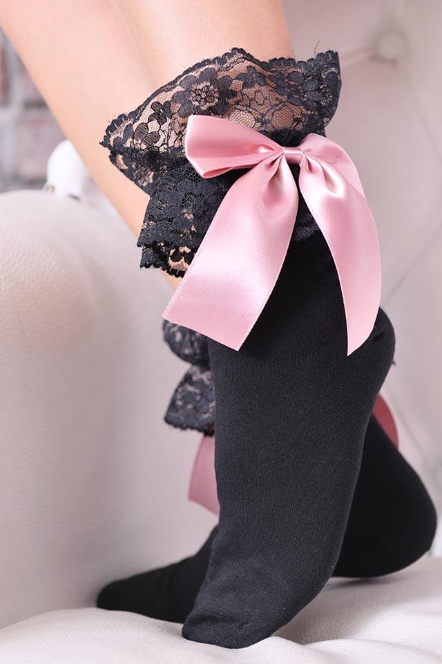 【Princess Melody】♪レース&おりぼんソックス♪ - ピンク size-F