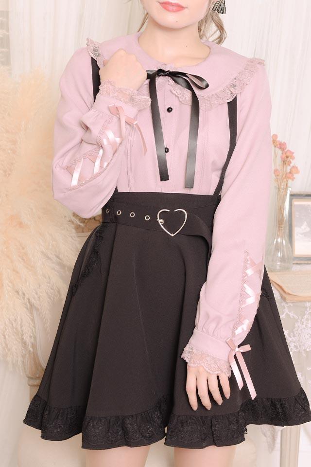 【MA*RS】袖スピンドルレースブラウス - ピンク size-F